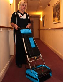 Care Home Floor Cleaning - Rotowash