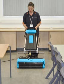 Education School Flooring Cleaning - Rotowash