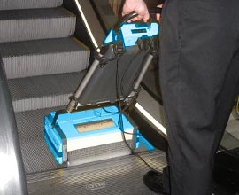 Escalator Travelator Cleaning Machine - Rotowash