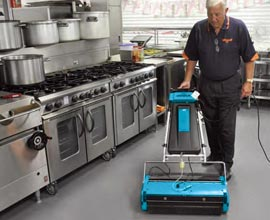 Food Processing Plant Kitchen Floor Cleaning Machine - Rotowash