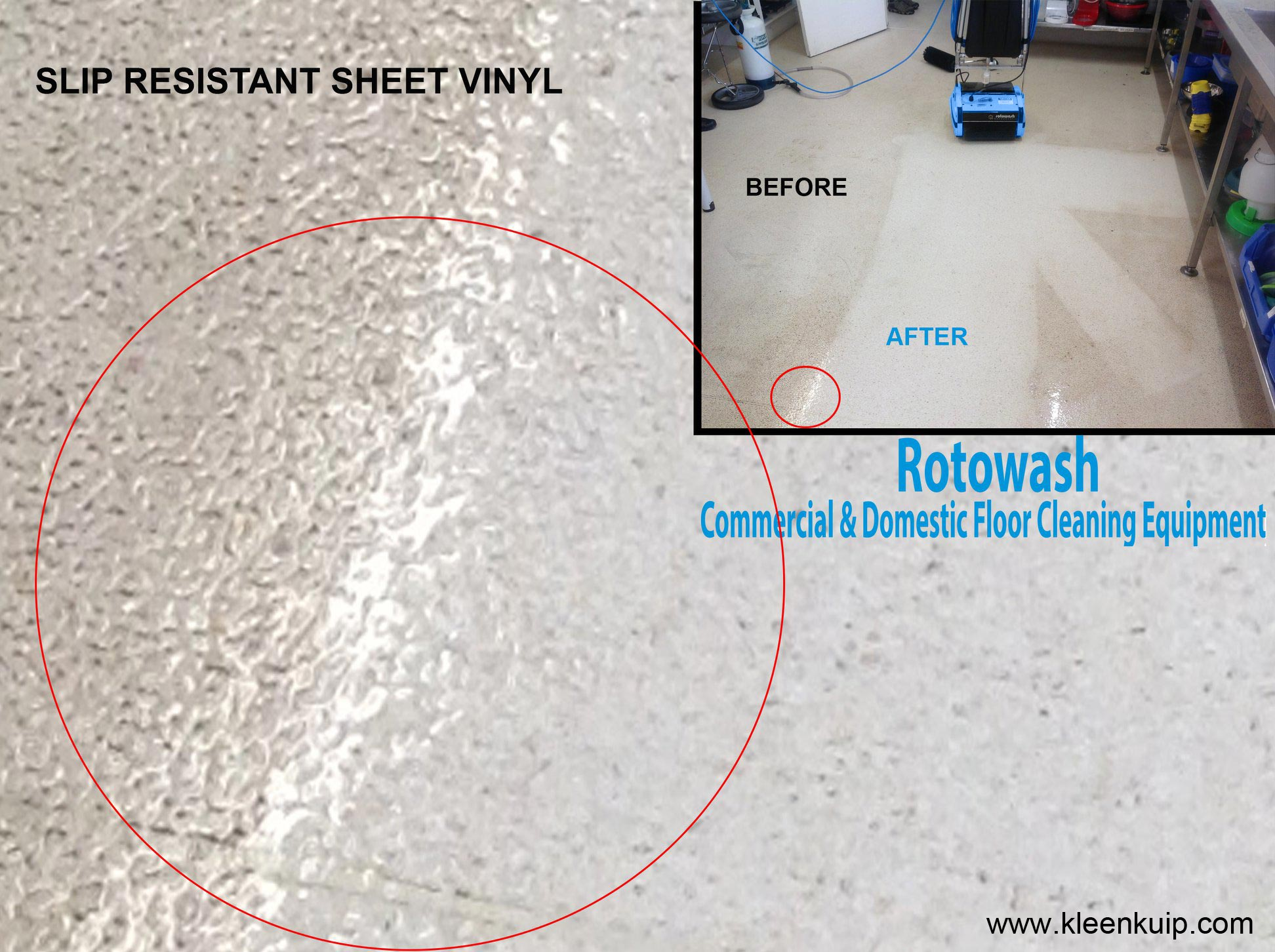 Cleaning Anti Slip Resistant Sheet Vinyl Flooring