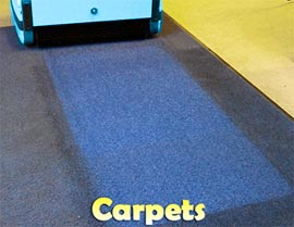 Cleaning Carpets - Rotowash