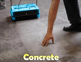 Cleaning Concrete Floors - Rotowash