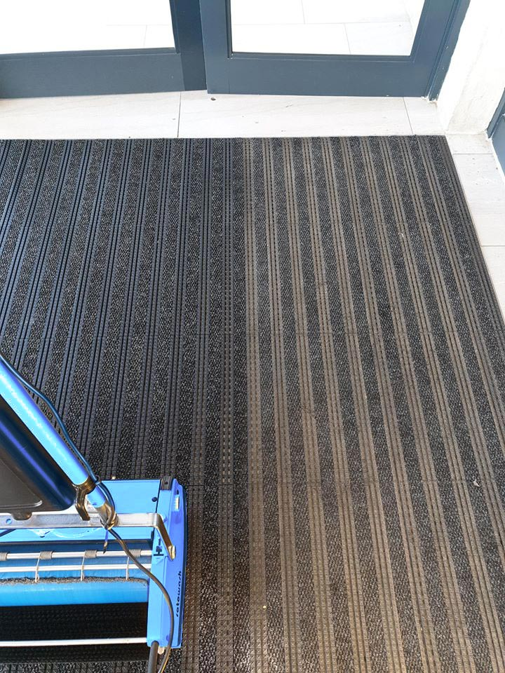 cleaning entrance mats