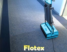 Cleaning Flotex Floors - Rotowash