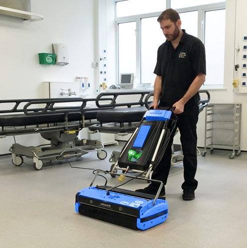 cleaning hospital floors rotowash
