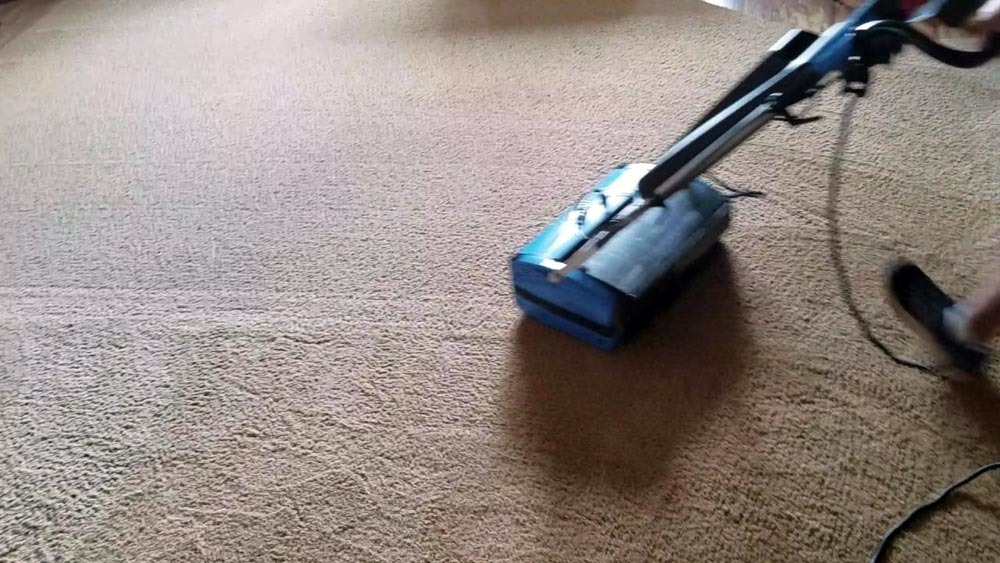 Cleaning Lifting Carpet Pile - Rotowash