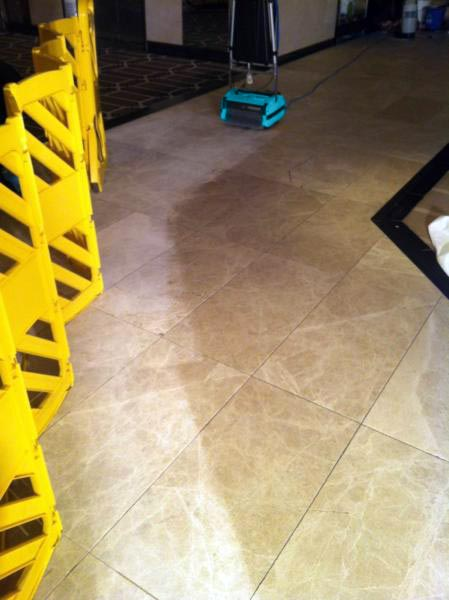 Cleaning Limestone Floors - Rotowash