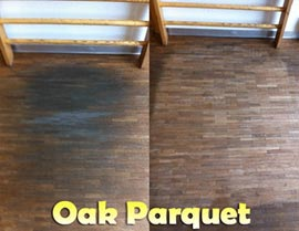 Cleaning Oak Parquet Floors - Rotowash