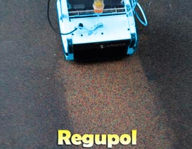 Cleaning Regupol Floors - Rotowash