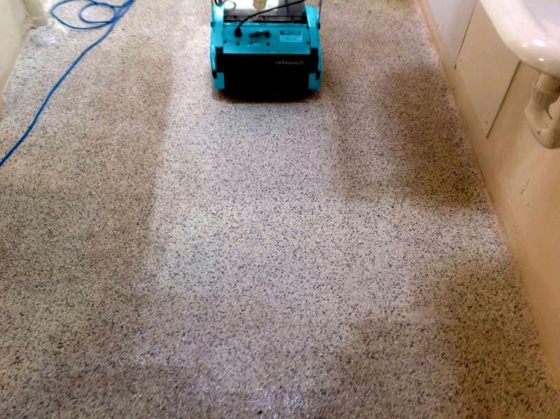 Cleaning Sandstone Floors - Rotowash