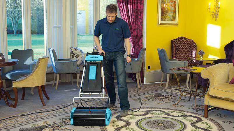 Common Room Floor Carpet Cleaning - Rotowash