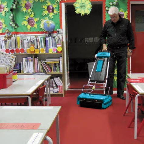 Education Facility Cleaning Floors - Rotowash