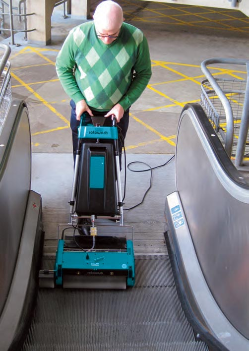Escalator Travelator Cleaning Equipment - Rotowash