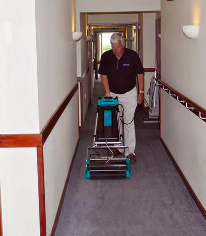 Floor Cleaning Hallways - Rotowash