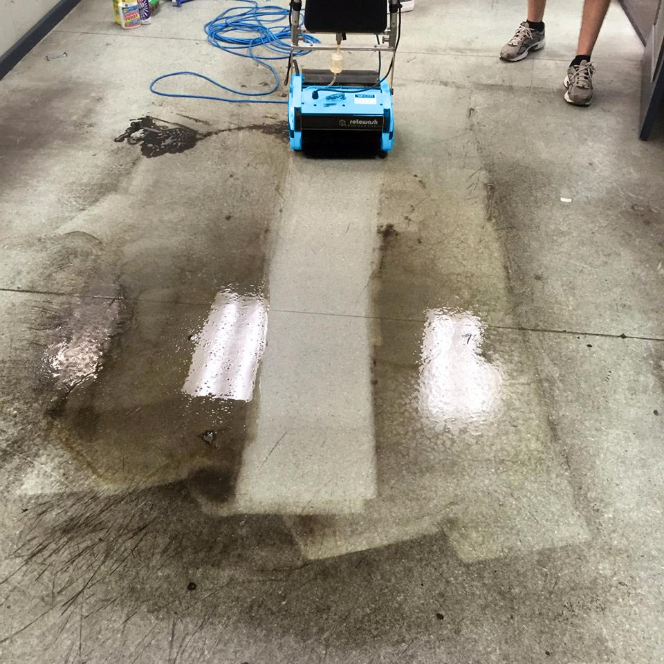 Greasy Floor Cleaning Machine Rotowash