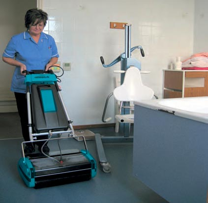 Hospital Patient Floor Cleaning Machine - Rotowash