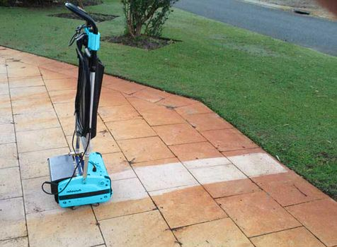 Outside Patio Floor Cleaning Machine - Rotowash