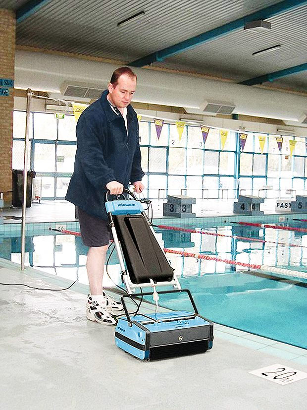 Pool Tile Cleaning Machine Rotowash