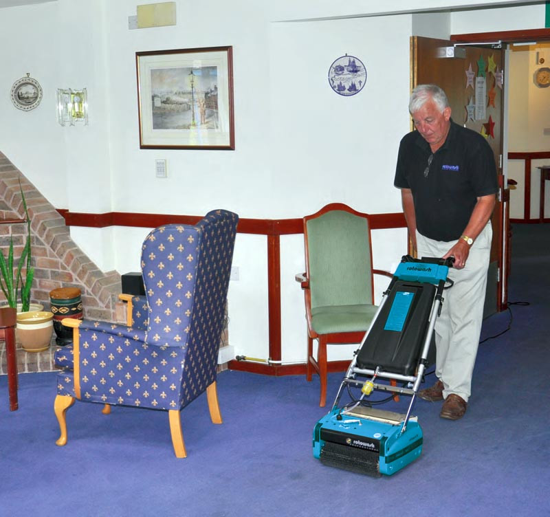 Retirement Homes Floor Cleaner Equipment - Rotowash
