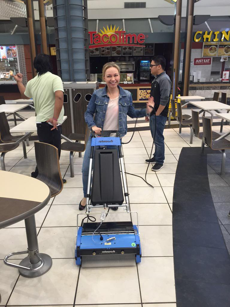 rotowash food court floor cleaning