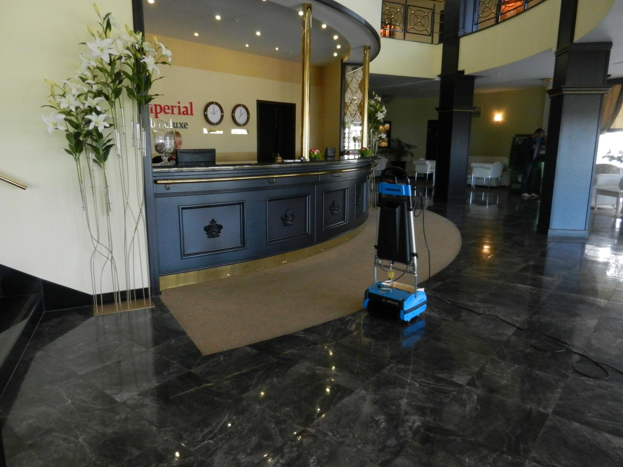 Floor Cleaning Hotel Reception Area
