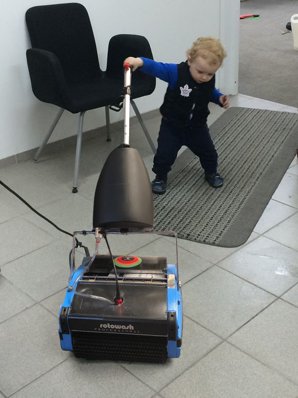 Tile Floor Cleaning Kid