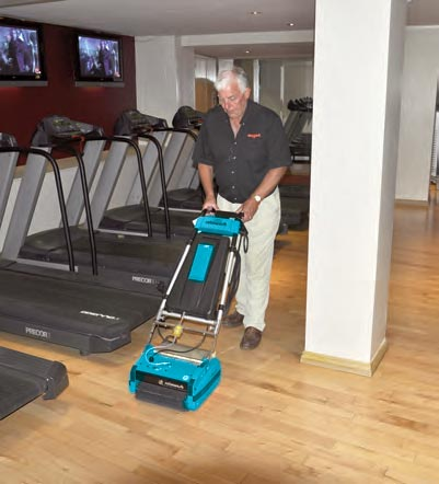 Sports Treadmill Cleaning Floor Area - Rotowash