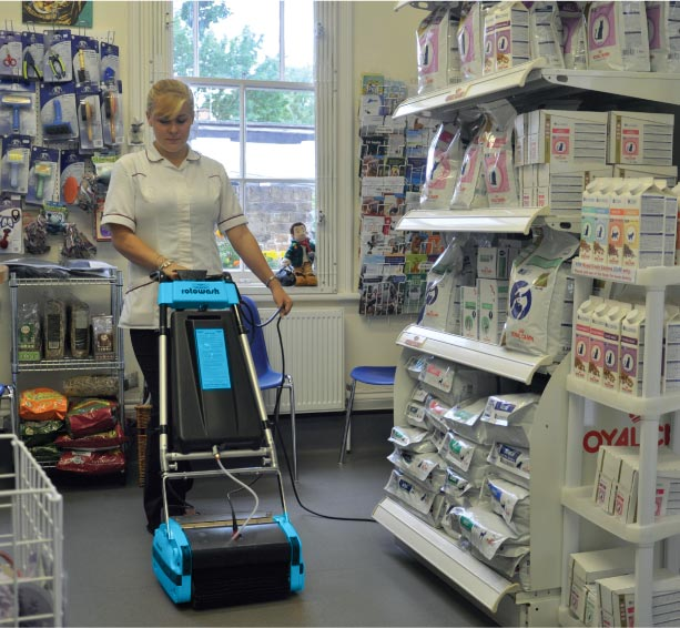 Veterinary Clinic Floor Cleaning Machine - Rotowash