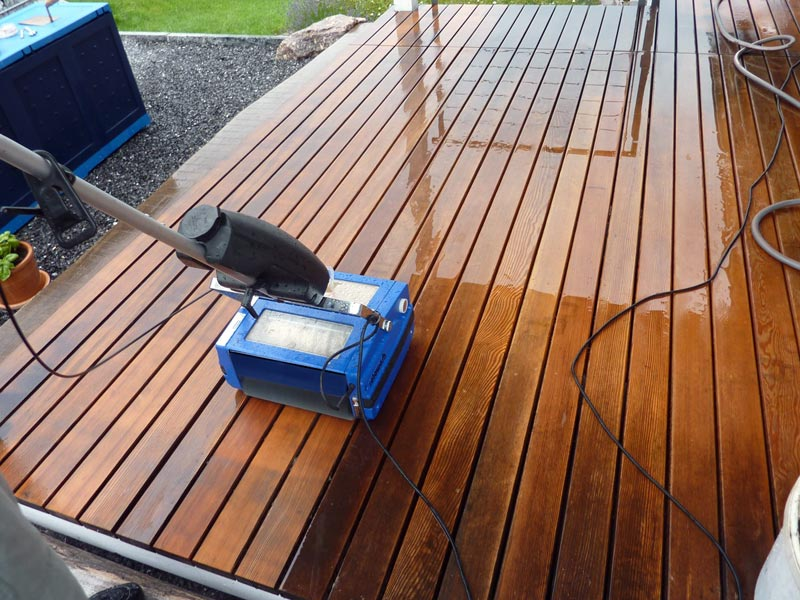 Wood Deck Cleaning - Rotowash