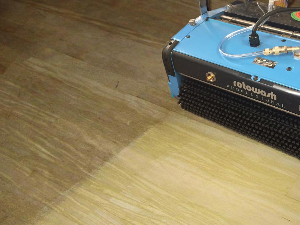 Wood Floor Cleaning Machine Rotowash